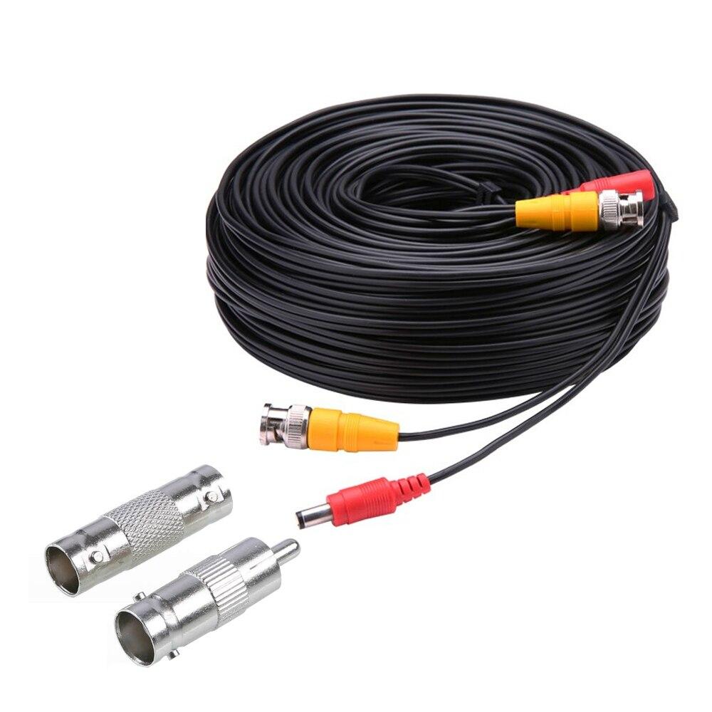 Câble dalimentation vidéo BNC pour caméra de vidéosurveillance analogique AHD, accessoire pour système de sécurité, 5M 10M 15M 20M 30M 40M 50M