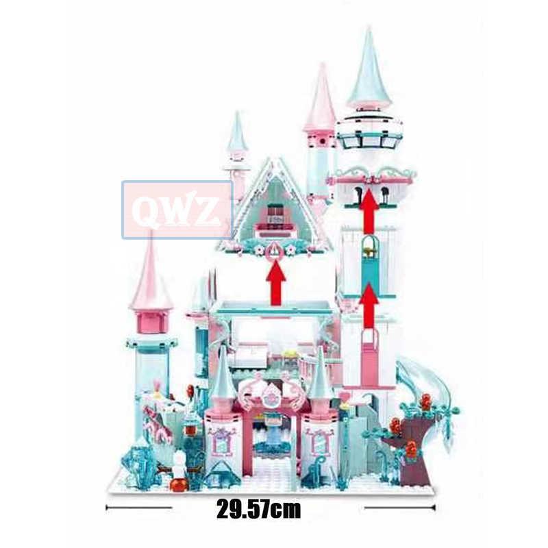 1314 個雪ワールドシリーズ魔法の氷城セット女の子ビルディングブロックレンガのおもちゃガールフレンドクリスマスギフト