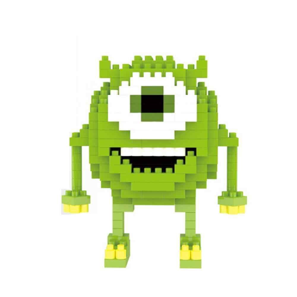 Heißer Lepining Klassische creators Monsters cartoon transport Mr Q Mike Michael Wazowski mini micro diamant block ziegel spielzeug geschenk