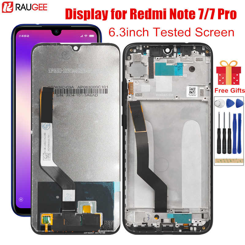 Display for <font><b>Redmi</b></font> <font><b>Note</b></font> <font><b>7</b></font> <font><b>LCD</b></font> display Touch Screen with Frame Tested Digitizer Replacement for Xiaomi <font><b>Redmi</b></font> <font><b>Note</b></font> <font><b>7</b></font> Note7 <font><b>Pro</b></font> <font><b>LCD</b></font> image