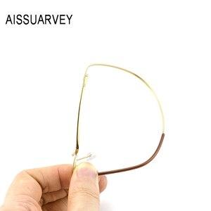Image 2 - Monture en titane pour sourcils, lunettes optiques lunettes de lecture, marque classique, Simple, demi jante, légère, Flexible, nouveau