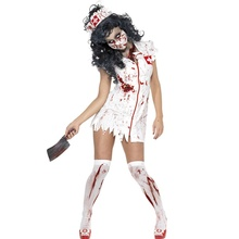 Halloween Costume M,XL Adult Ragged Sexy Scary Mummy Costumes Blood Nurse For Women Cosplay Zombie New