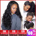 360 peluca Frontal de encaje 28 30 pulgadas peluca Remy brasileña cuerpo onda de encaje peluca Frontal de encaje pelucas de cabello humano para mujeres negras libre de Brasil