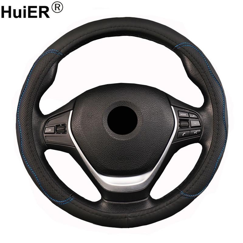 Housse de Volant de voiture tresse de Volant sur le Volant pour 36 38 40 42 45 47 50 CM Funda Volante barre de main automatique de style de voiture