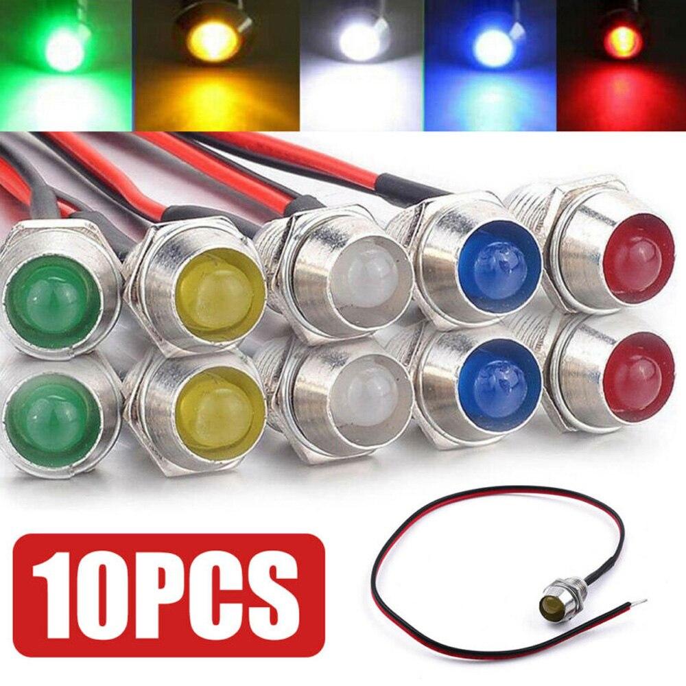 10 шт. светодиодный индикатор автомобиля светильник s Показывает направление поворота автомобиля, применимый к приборной панели автомобиля ...
