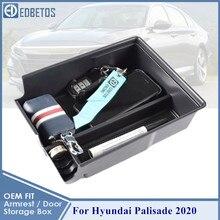 Ящик для хранения в подлокотнике автомобиля для Hyundai Palisade 2020 коробка для хранения центральной консоли аксессуары для интерьера органайзера