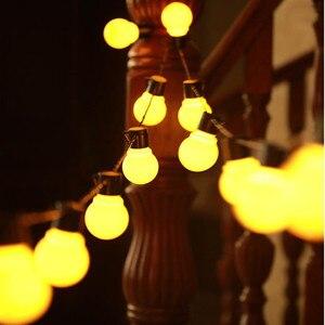 Image 1 - Edison LED lampa ogrodowa łańcuchy świetlne 5M 10M 220V Patio na świeżym powietrzu Yard krajobraz ślub dekoracje świąteczne