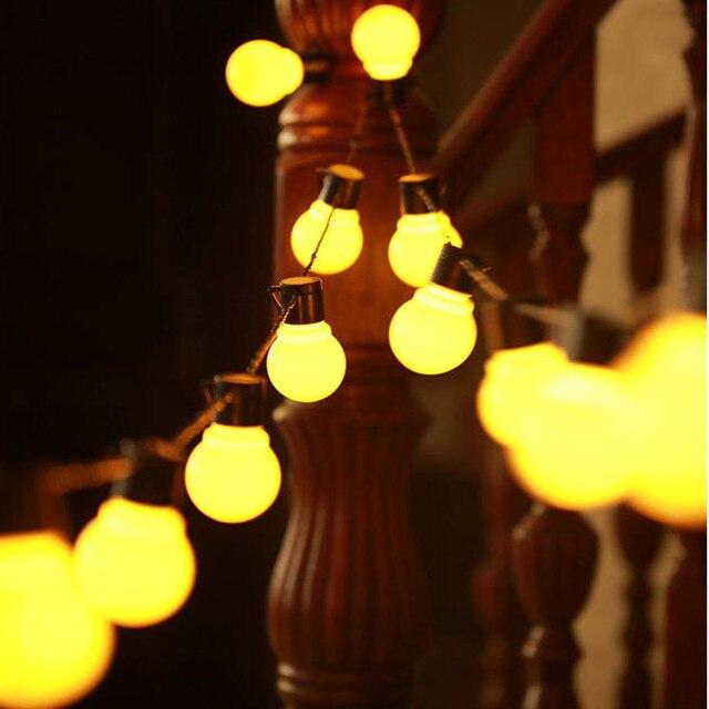 Edison LED lampa ogrodowa łańcuchy świetlne 5M 10M 220V Patio na świeżym powietrzu Yard krajobraz ślub dekoracje świąteczne