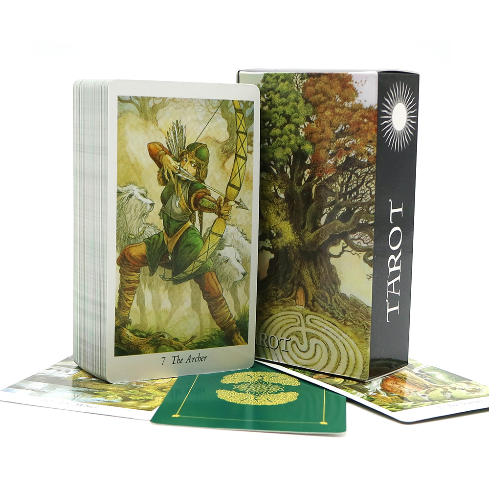 2020 The Wildwood Tarot Cards Game & Rider Tarot Deck Mysterious Fairy&animals Divination Read Your Fate Board Game