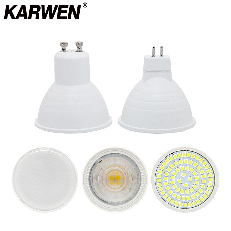 KARWEN GU10 LED Bulb E27 220V Lamp MR16 Spotlight 7W GU5.3 Spot Light Bulb 2835 SMD LED 5W Bombilla E14 Home Lighting