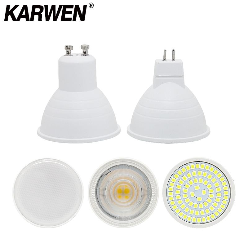 KARWEN GU10 LED Bulb E27 220V Lamp MR16 Spotlight 7W GU5.3 Spot Light Bulb 2835 SMD LED 5W Bombilla E14 Home Lighting
