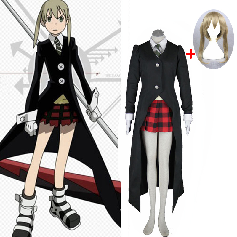 2019 Hot Anime SOUL EATER Cosplay Costumes Maka Albarn Uniforms Women Fancy Party Dress For Halloween Costume And Wig