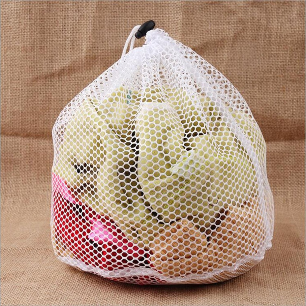 Laundry Mesh Bags Drawstring Net Saver Washing Pouch Strong Machine Thicken Bag