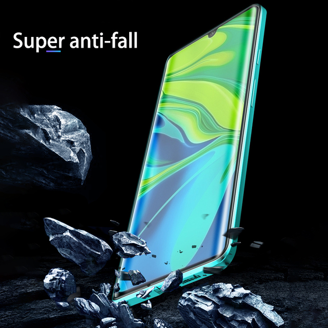 Magnetyczna adsorpcja metalowa obudowa do Xiaomi 9 Lite 9T Pro 8 SE CC9 A3 9H dwustronna folia ze szkła hartowanego Redmi uwaga 8 7 Pro 8T F1