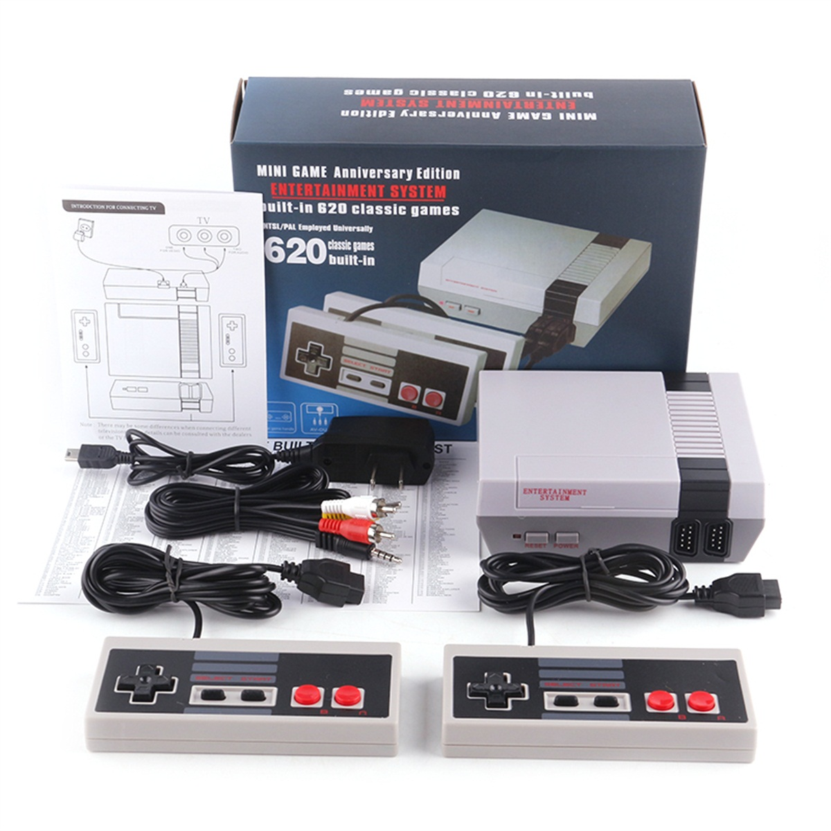 Video game console MINI NES Classic retro handheld game console 620 games Comes with original gamepad Family children's toys