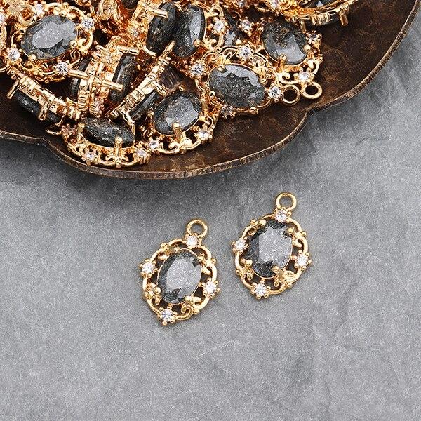 Assoonas M589, циркониевый кристалл, 18K золото, ювелирные аксессуары, изготовление ювелирных изделий, ручная работа, поиск ювелирных изделий, diy серьги кулон, 6 шт./лот - Цвет: M58905