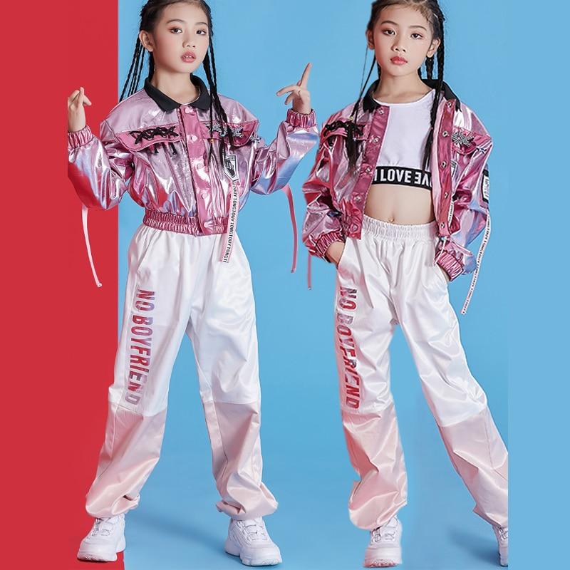 Hip-Hop Children'S Street Dance Costume Girls Jazz Dance Costumes Korean Version Drum Performance Street Dance Clothes DL4530