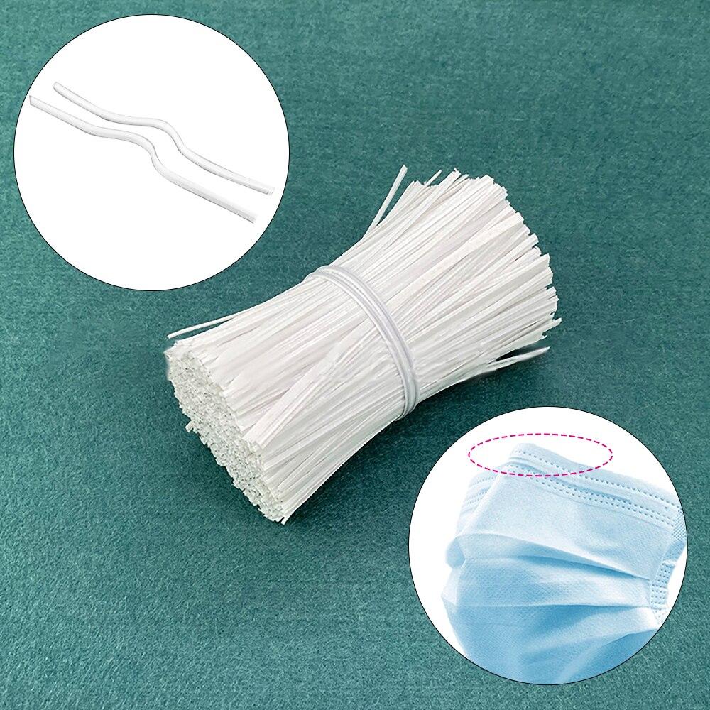 100Pcs/Bag 3mm Face Mask Adjustable Elastic Cord Nose Bridge Nose Clips Disposable Face Mask Accessories DIY Tools Dropshipping
