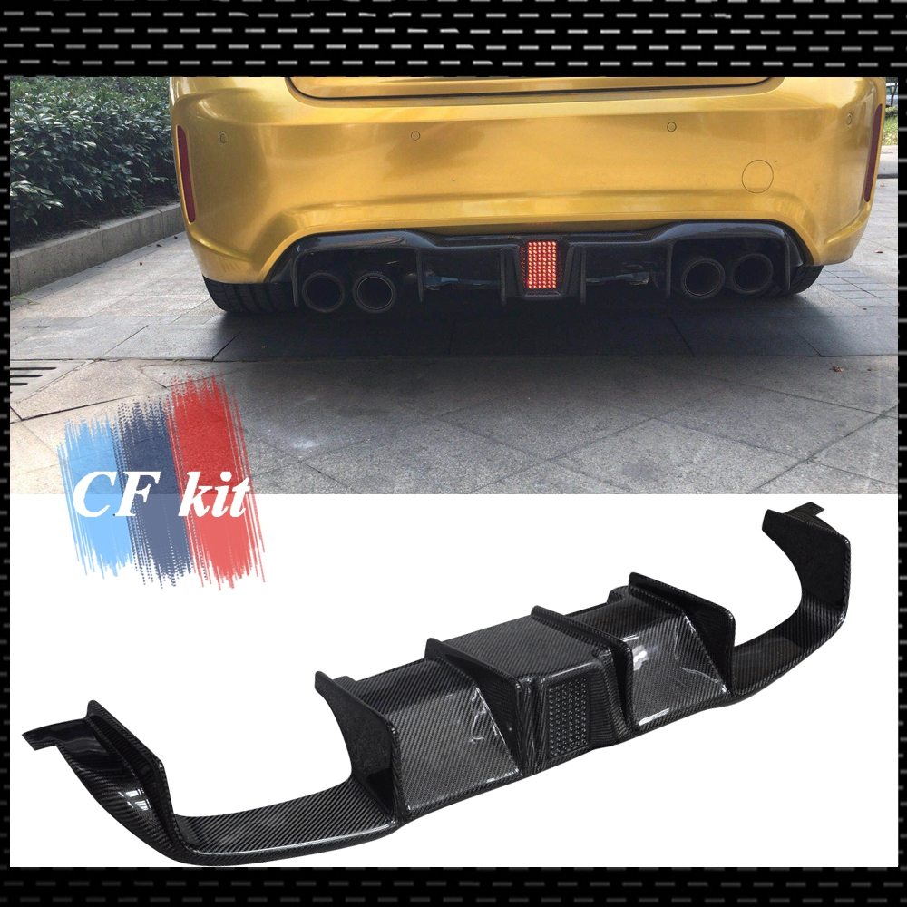Carbon Fiber V Style Rear Bumper Diffuser Quad for 2008-2011 BMW E90 Sedan M3