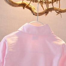Детская рубашка высокого качества; 1 предмет; милая Модная одежда с длинными рукавами и пуговицами спереди