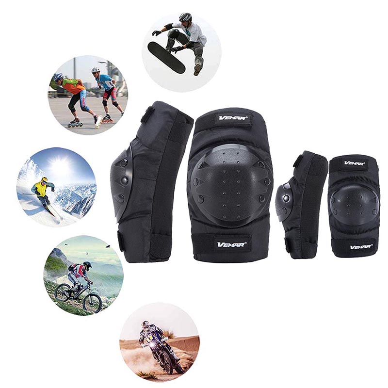 4pcs set Elbow Knee Sleeve Pad Motorcycle Cycling Arm Leg Protective Guard Protector Short Shockproof Outdoor Sportswear in Cycling Legwarmers from Sports Entertainment