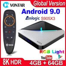 A95X F3 Air Smart TV BOX Android 9.0 Amlogic S905X3 4GB 64GB 32GB Wifi 4K Youtube 2G 16G Set top Box 8K RGB Light Android TV Box