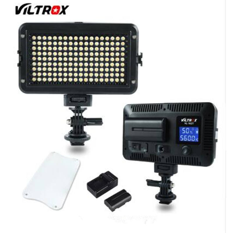 Viltrox VL-162T Camera LED Video Stideo Light 3300K-5600K Bi-Color Dimmable For Canon Nikon Sony DSLR Photography Camcorder