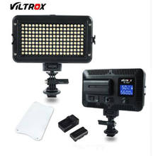 Viltrox VL 162T מצלמה LED וידאו Stideo אור 3300K 5600K דו צבע Dimmable עבור Canon Nikon Sony DSLR צילום למצלמות