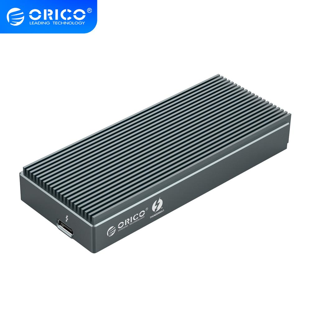 ORICO Thunderbolt 3 SSD Case NVME M.2 SSD Enclosure 2TB Aluminum USB C with 40Gbps Thunderbolt 3 C to C Cable For Laptop DesktopHDD Enclosure   -