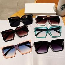 Sun-Glasses Uv400 Fashion Square Oversized Trend Colored Outdoor Vintage Designer Women