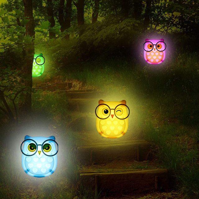 Фото светодиодная настенная лампа в виде совы для детей светильник цена