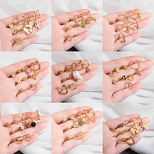2020 New Fashion Street Style Evil Eye Cactus Heart Moon Bee Map Lightning insect Gold Stud Earrings