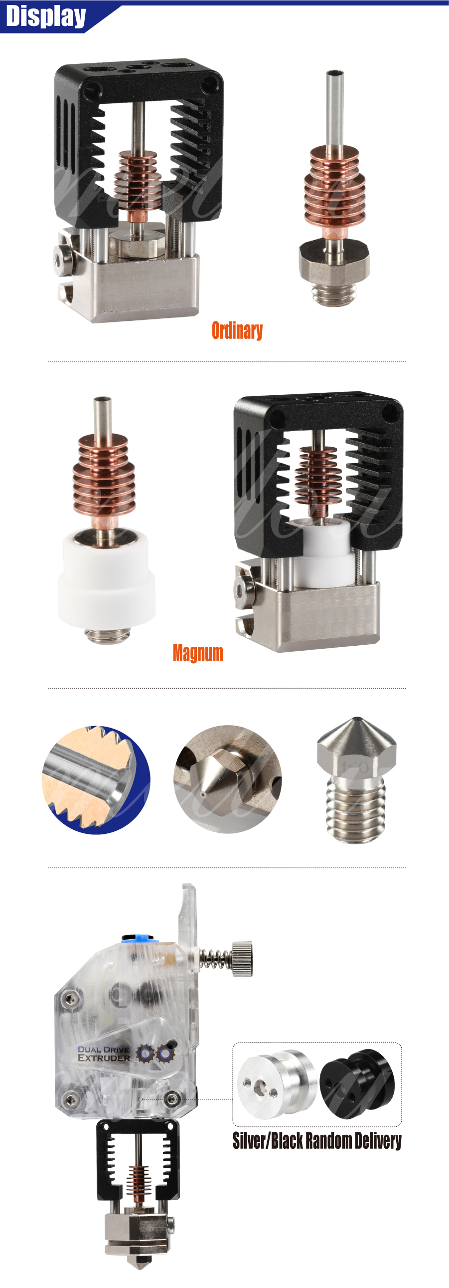 Mellow All Metal NF-Crazy Hotend V6 Copper Nozzle For 3D Printers