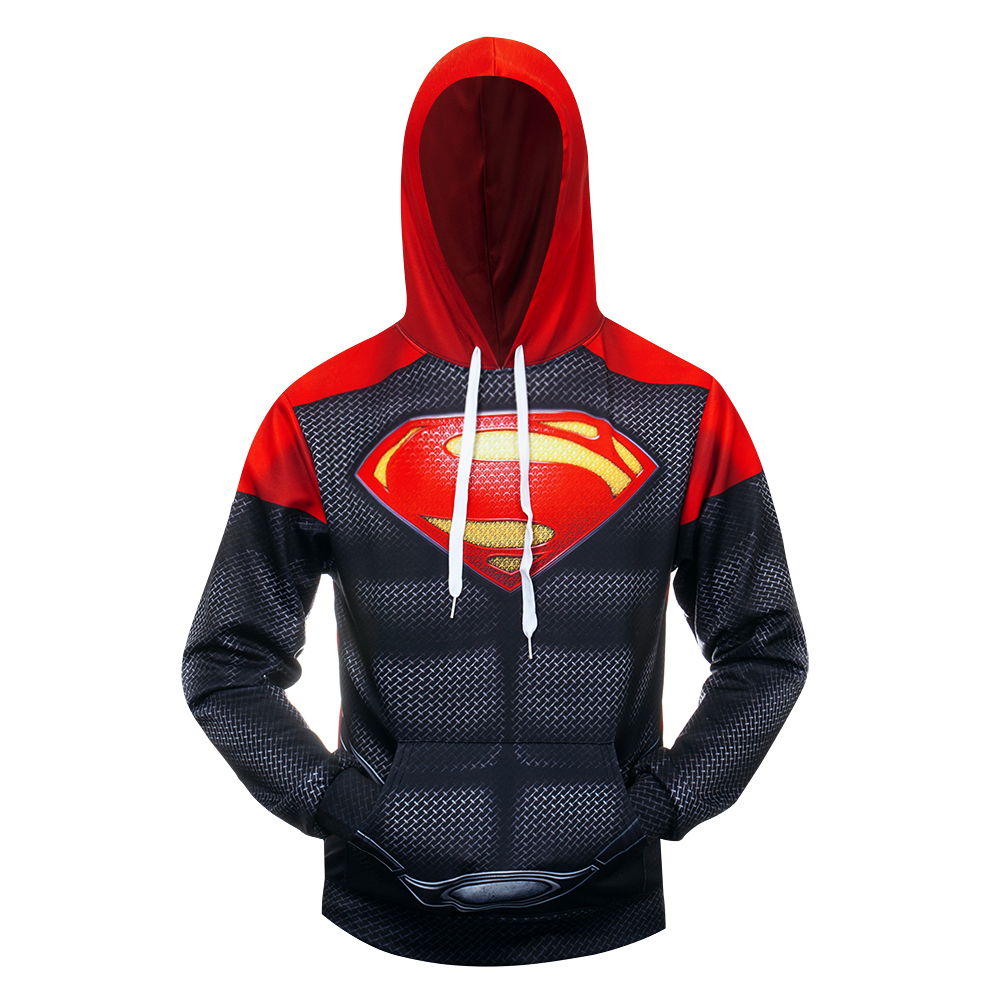 Superhero Muscle Superman Cosplay Costume 3D Printed Costume Premium Coat Hooded Sweatshirts Pullover Hoodies