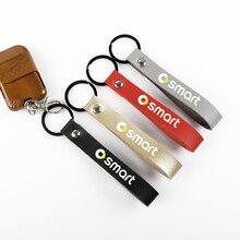 Стайлинг автомобиля металлический + Кожаный Автомобильный брелок для ключей интерьер автомобиля для Smart Fortwo Forfour453 451 450