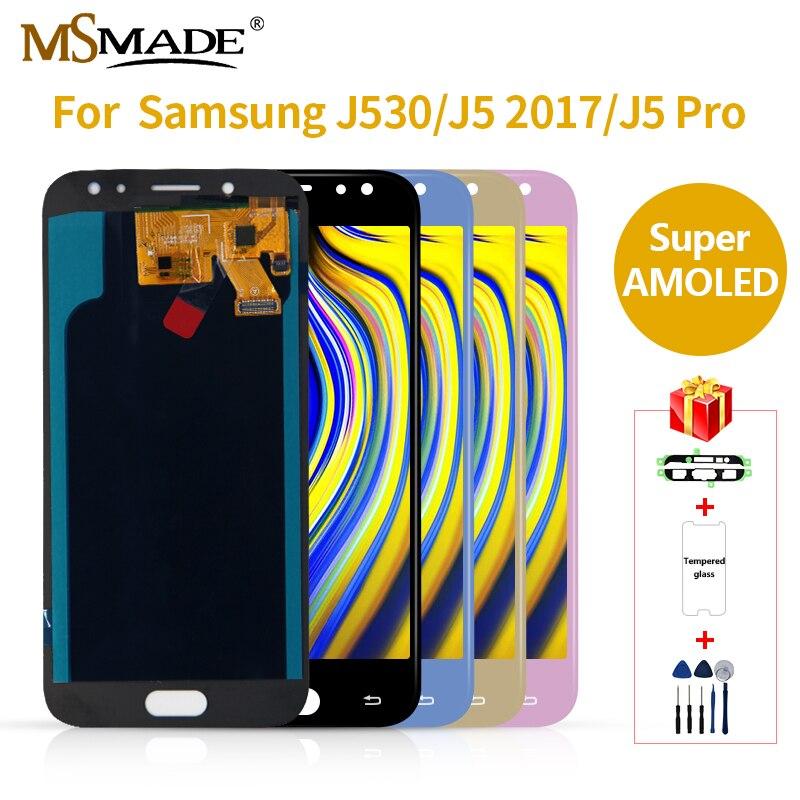 Супер AMOLED ЖК для SAMSUNG Galaxy J5 2017 сенсорный ЖК экран J530 J530F для SAMSUNG J5 Pro 2017 J530 замена экрана дисплея
