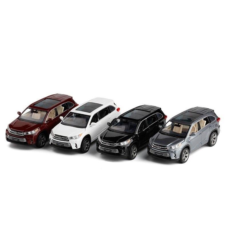JackieKim 1:32 Toyota Highlander 2018 Sound & Light PullBack Diecast Model Car