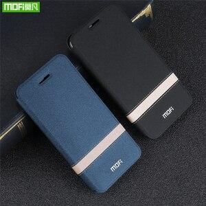 Image 2 - Original MOFi Abdeckung Für Xiaomi Mi Spielen Fall Telefon Shell Für Redmi 7 Pro Fall Neue TPU Leder Flip Cover silizium Schützen Luxus