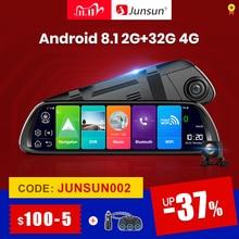 "Junsun A960 אנדרואיד 8.1 ADAS 2G + 32G 10 ""זרם מדיה מצלמת דאש מצלמה רכב מצלמה מקליט dvr dashcam GPS ניווט 1080P WIFI"