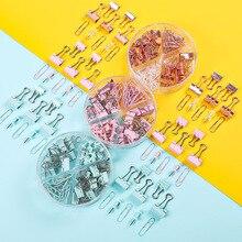 72pcs Color Metal Paper Clip Binder Clip Plastic Pushpin Lon