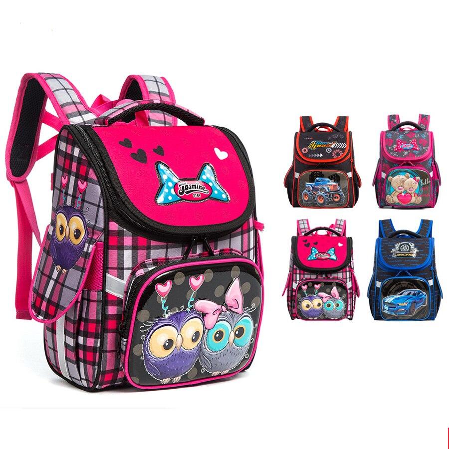 Детский ортопедический рюкзак с медведями из мультфильма, Водонепроницаемый школьный ранец с бантиком для девочек и мальчиков|Школьные ранцы| | АлиЭкспресс