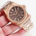 Reloj de lujo para hombre, nuevo, de acero inoxidable, automático, mecánico, zafiro gris, azul, rosa, oro, limitado, deportivo, espalda de cristal AAA +