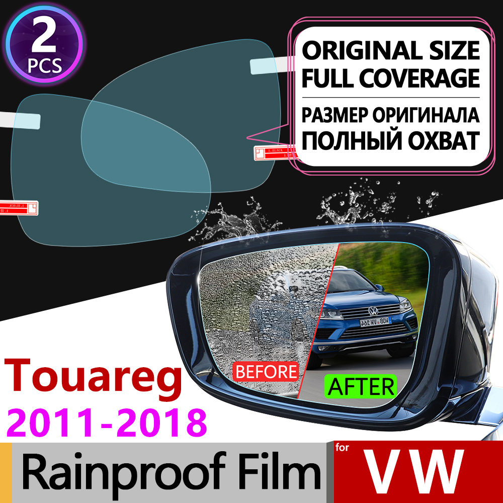 For Volkswagen VW Touareg 2011 2018 7P Full Cover Anti Fog Film Rearview Mirror Rainproof Anti Fog Films Clean Car Accessories in Car Stickers from Automobiles Motorcycles