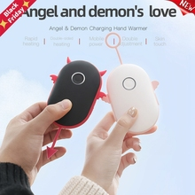 Winter Portable Mini USB Hand Warmer Rechargeable Pocket Mobile Power Hands Warmer 2400mAh/4000mAh Double-sided Quick Heating