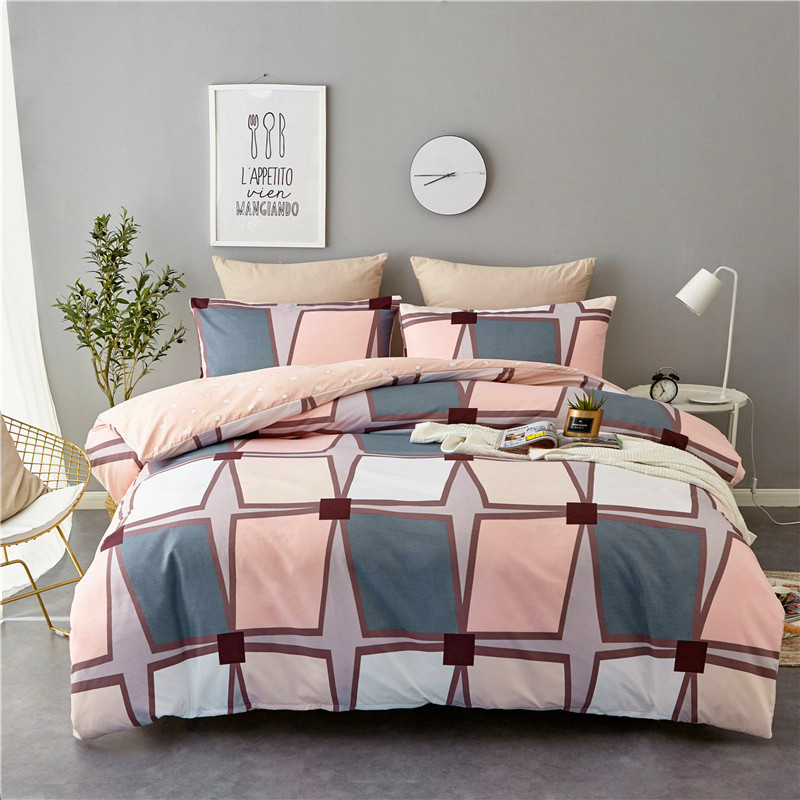 Hot Selling Three-piece Bedding Set Oceans Coral Palm 130G Twill Western Style