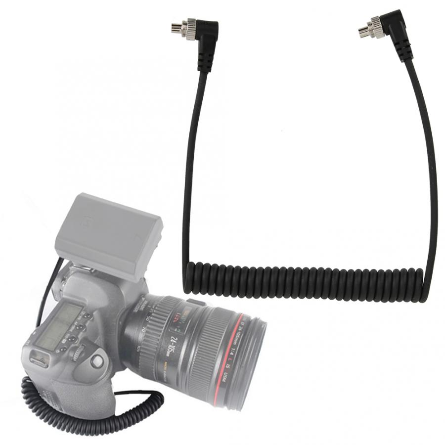3.5mm to Male PC Flash Sync Cable Screw Lock for Trigger Studio Light Camera Flashes Accessories PC Flash Sync Cable 1Pcs