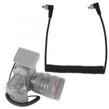 """100 см кабель для синхронизации с разъемом """"Папа-папа"""" для вспышки с винтовым замком для Canon для Nikon для Пиксельной камеры и соединительный кабель для вспышки светильник"""