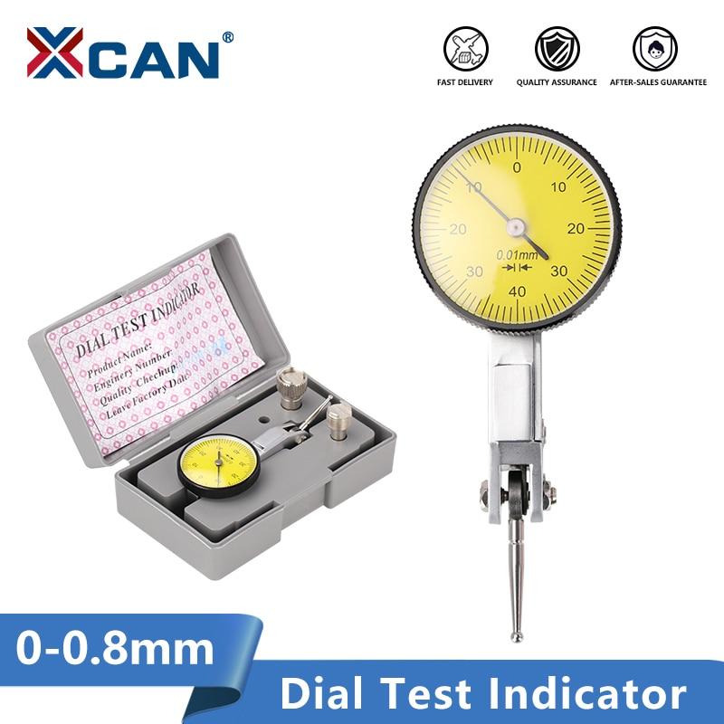 XCAN Dial Indicator 0-0.8mm Lever Test Indicator Magnetic Base Stand Holder Measuring Instruments 0.01mm Dial Gauge