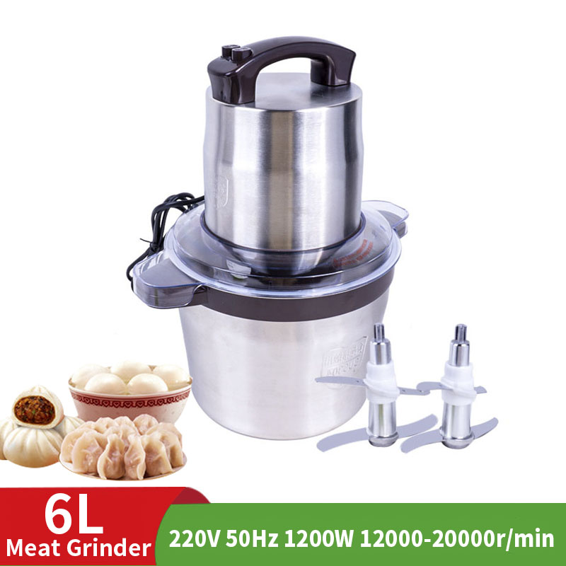 Household Stainless Steel 2 Speed 300W-1200W  Large Capacity Meat Grinder High Power Meat Grinder Pepper Garlic Mincing Machin