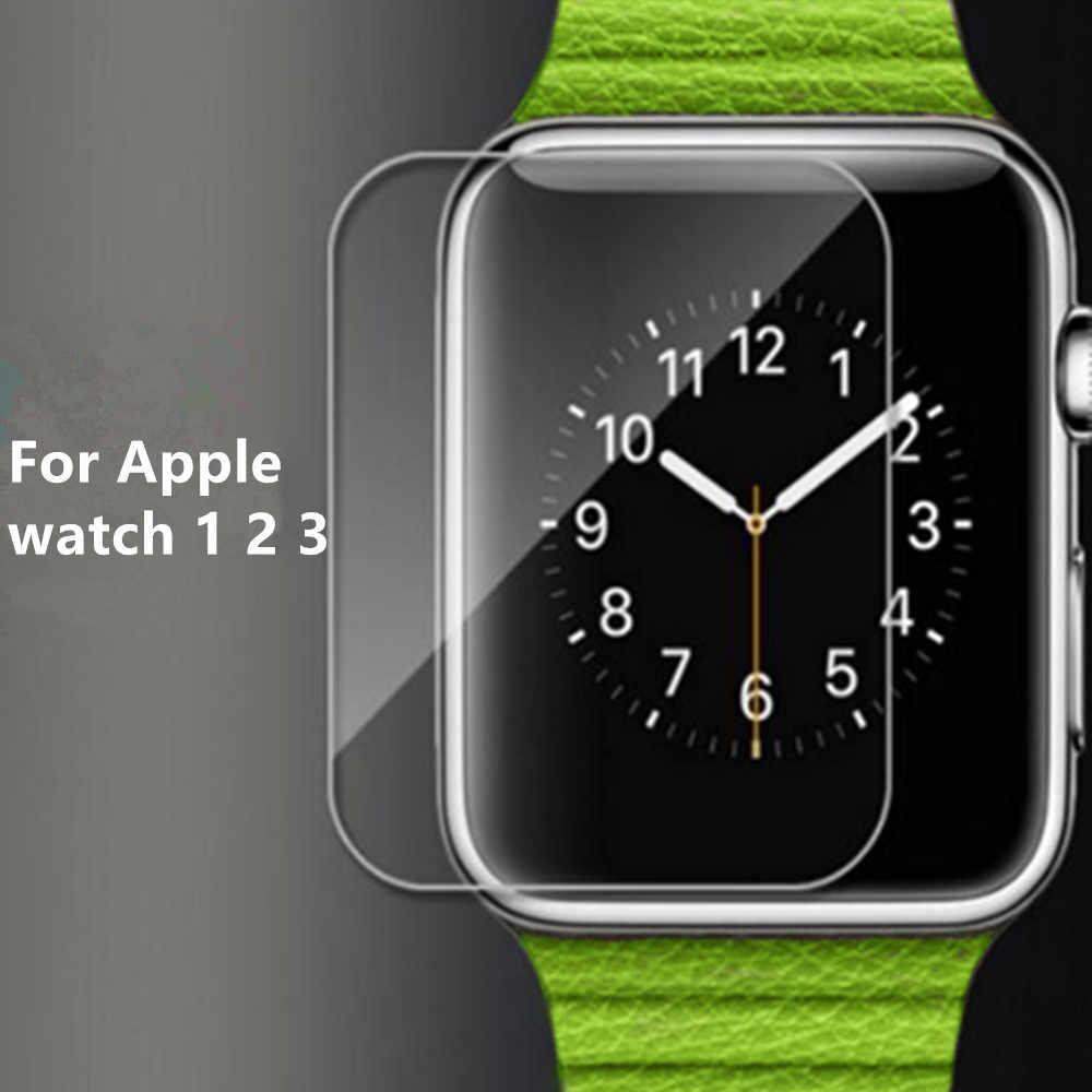 2 Pcs 2.5D 9H Tempered Glass untuk Apple Watch Seri 1 2 3 4 38 Mm 42 Mm 40 MM 44 Mm Pelindung Layar Film Pelindung untuk IWatch